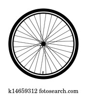 silhouette of a bicycle wheel