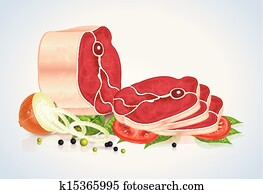 Slices Of Meat With Vegetables And