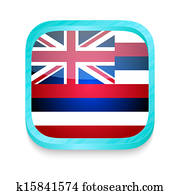 Smart phone button with Hawaii flag