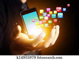Smart phone with application