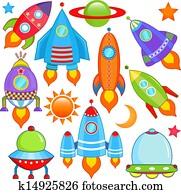 spaceship, Spacecraft, Rocket, UFO