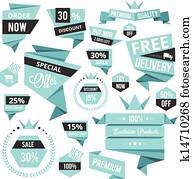 stylish discount sale concept label