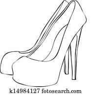 5841b1574 High heel shoes Clipart | k5575204 | Fotosearch