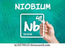 Niobium element Drawing | k20625543 | Fotosearch