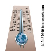 Thermometer with cold temperature