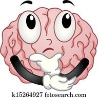 Thinking Brain Mascot
