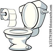 Dessin Wc toilettes clip art libre de droits. 26 172 toilettes la recherche de