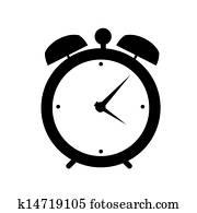 uhr, alarm, symbol, vektor, abbildung
