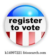US american vote badge