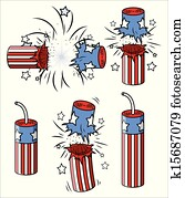 various firecrackers - 4th of july