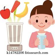 Vegetable juice and mixer