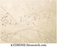 Vintage background with Music not