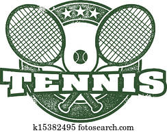Vintage Tennis Vector Design