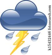 Weather icon clipart lightning thun