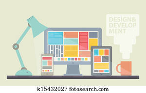 Web design development illustration