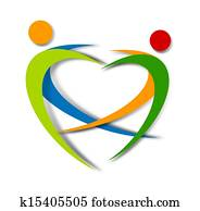 wellness abstract logo design