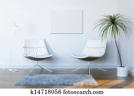 white room for relaxation and conve