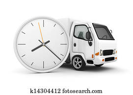 White Truck-Fast shipping