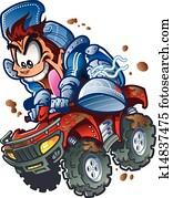 Wild ATV Quad Rider