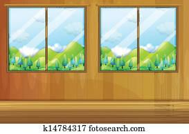 Windows made of glass