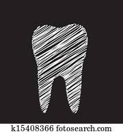 zahn, grafik, für, zahnarzt