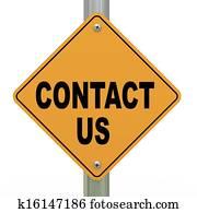 3d road sign contact us