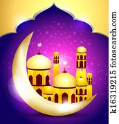 abstract ramadan mubarakh background