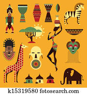Africa icons