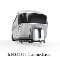 Airstream Camper Isolated