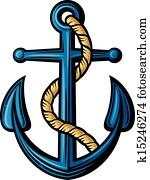 anchor vector illustration