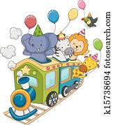 Animal Safari Birthday Train