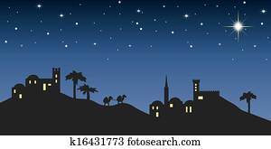 background night bethlehem