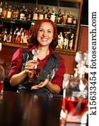 Your idea redhead bar tender in corset