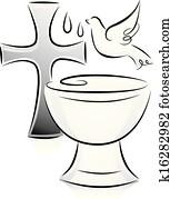 Black and White Baptism