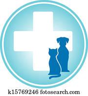 blue veterinary symbol
