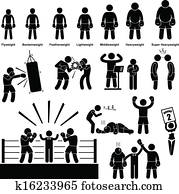 Boxing Boxer Stick Figure Pictogram