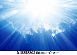Bright sun, blue sky