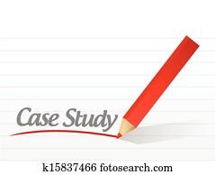 case study written on a white paper illustration