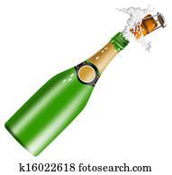 Champagne Bottle Open Lid