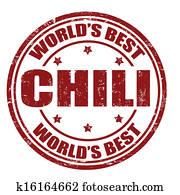 chili, briefmarke