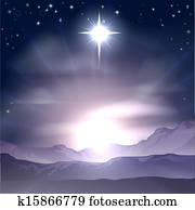 Christmas Star of Bethlehem Nativit