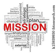 Circular design mission word tags