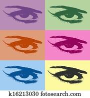 Colorful eyes