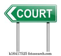 Court concept.