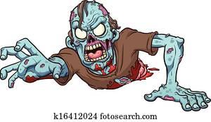 Crawling zombie