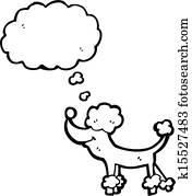 Clipart caniche k10709002 recherchez des clip arts des illustrations des dessins et des - Dessin caniche ...
