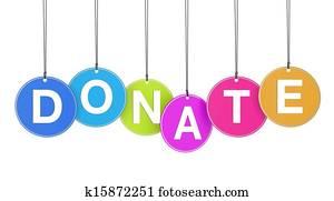 Donate Web Concept