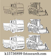 Earth moving equipment trucks