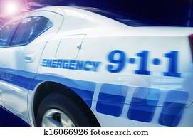 Emergency response police car