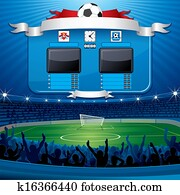 Empty Soccer Scoreboard.